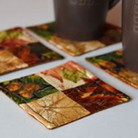 Autumn Fabric Coasters