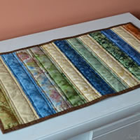 Neutral Batik Table Runner