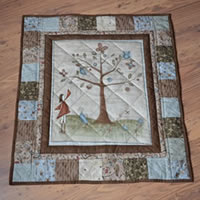 Tree Quilted Wallhanging
