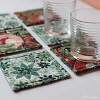 Green and Red Christmas Coasters