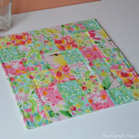 Square summer table runner